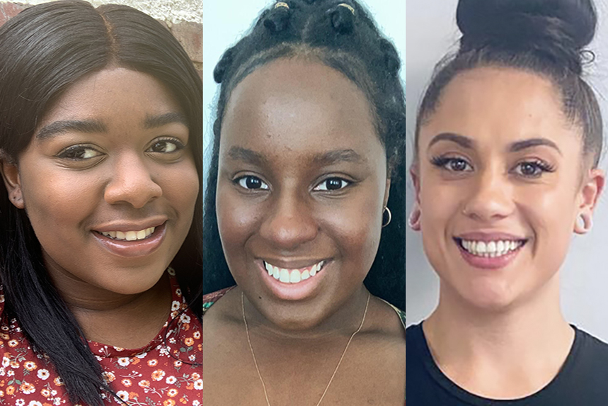Communications graduates Kirsty Stober, Chansey White and Nadine Sanchez are the next generation of role models in PR