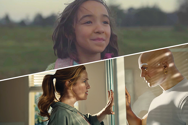 84 Lumber's ad (top) about a Mexican family's journey to America was the biggest hit on social during the Super Bowl