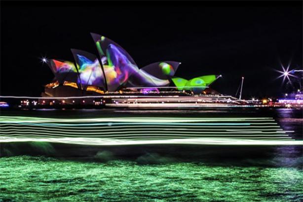 Part of the brief includes promoting Sydney's Vivid Festival