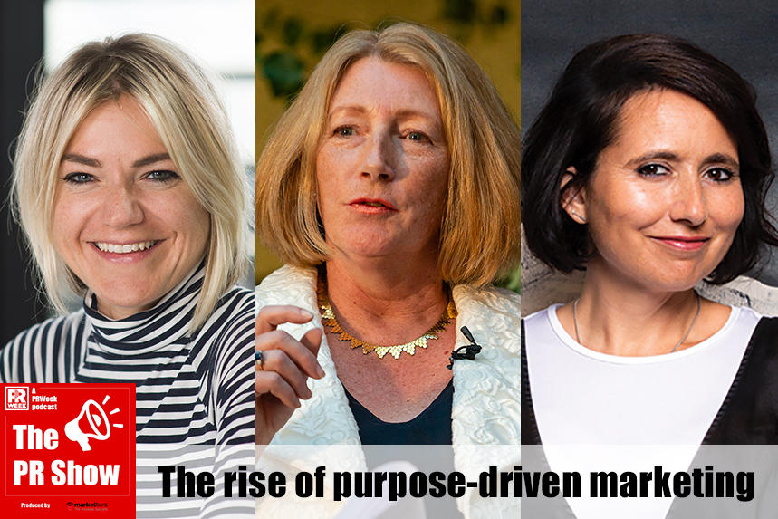 The panel: Freuds' Lotte Jones, leading sustainability expert Sue Garrard, Blurred's Nik Govier
