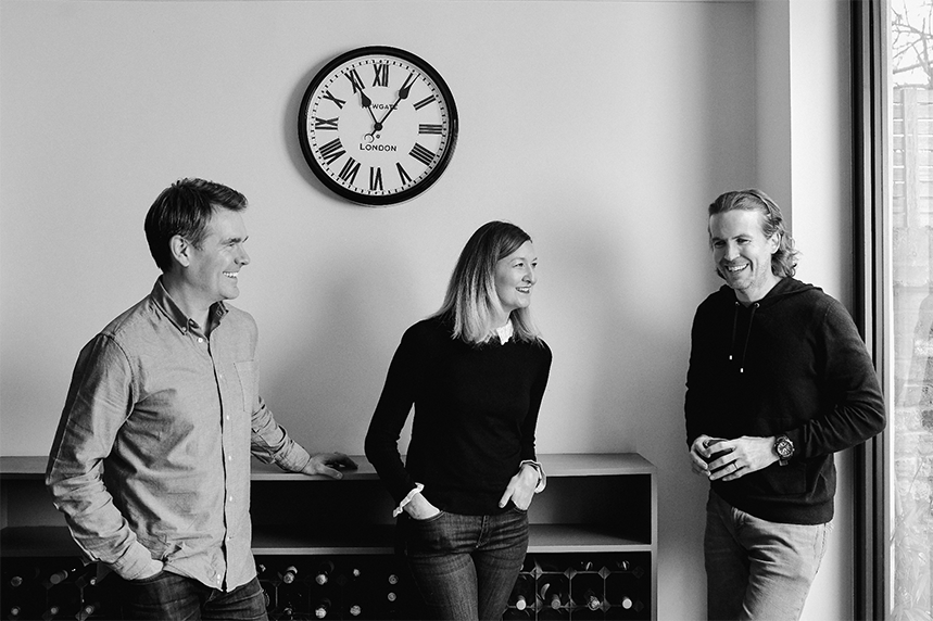 The Space Between co-founders (L-R): Tom Gladstone, Lisa Parfitt and Adam Raincock