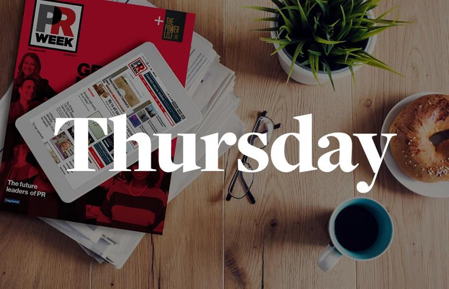 Top stories for PR pros to know on Thursday morning.