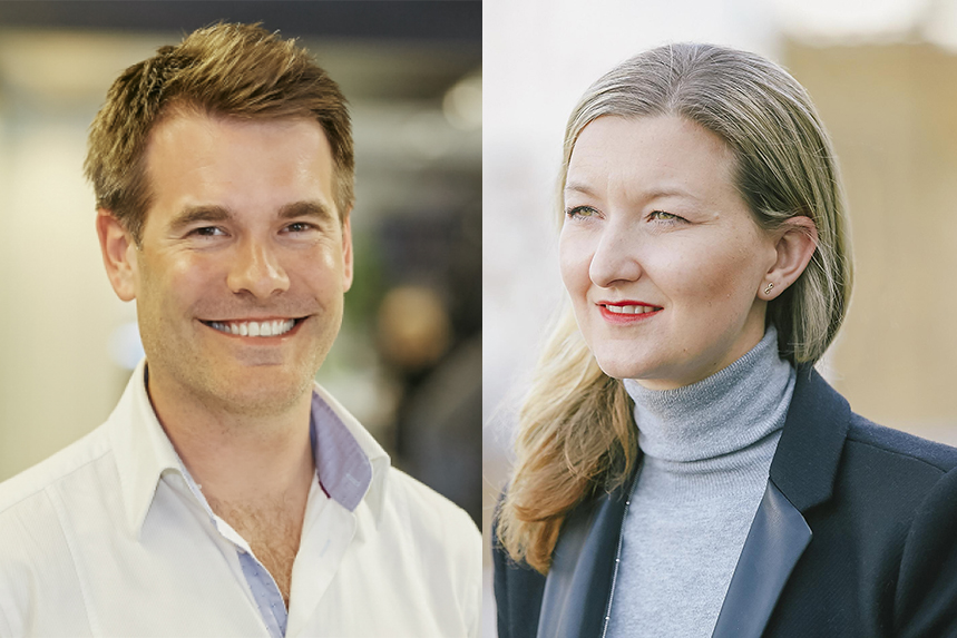 (L-R) Tom Gladstone and Lisa Parfitt have left Engine to start a new venture