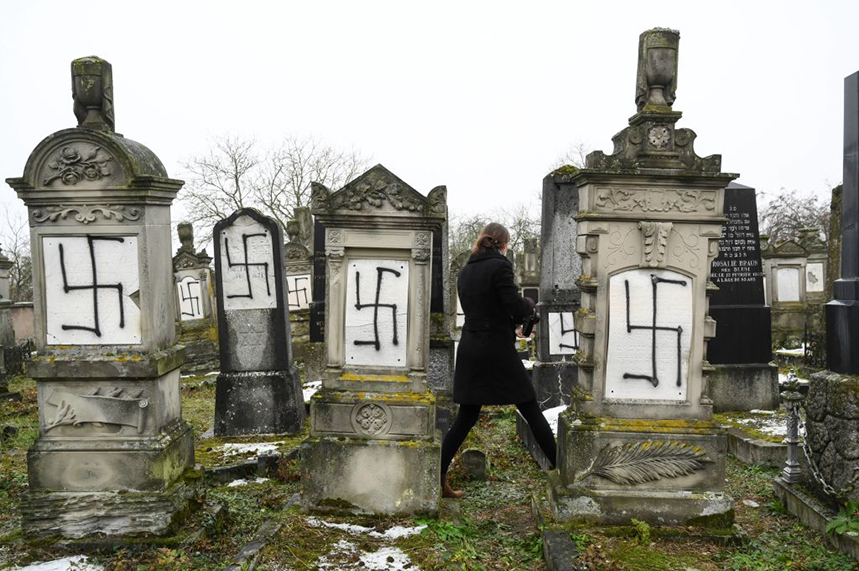 Antisemitic attacks on tombstones are sometimes tackled more efficiently than on social media (Photo: Getty Images)
