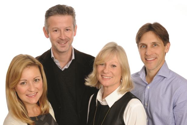 Tonic's former management team (l-r): Bunten, Parsons, Gitsham and Clark