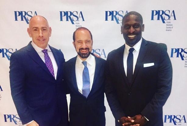 L to R: David Schull, Tony Russo, and Solomon Wilcots