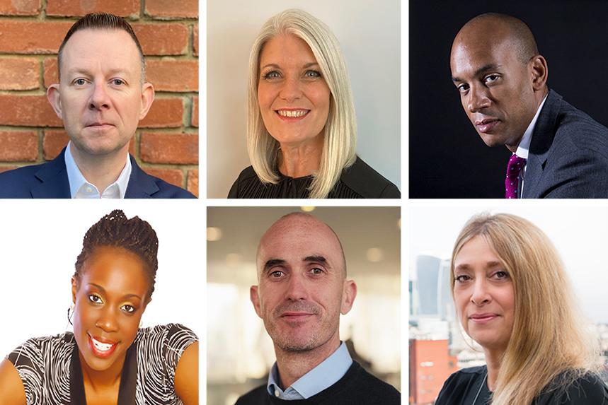 3030's Movers & Shakers (top left, clockwise): Stephen Doherty, Rachel Friend, Chuka Umunna, Jo Patterson, Chris Hides and Edleen John.