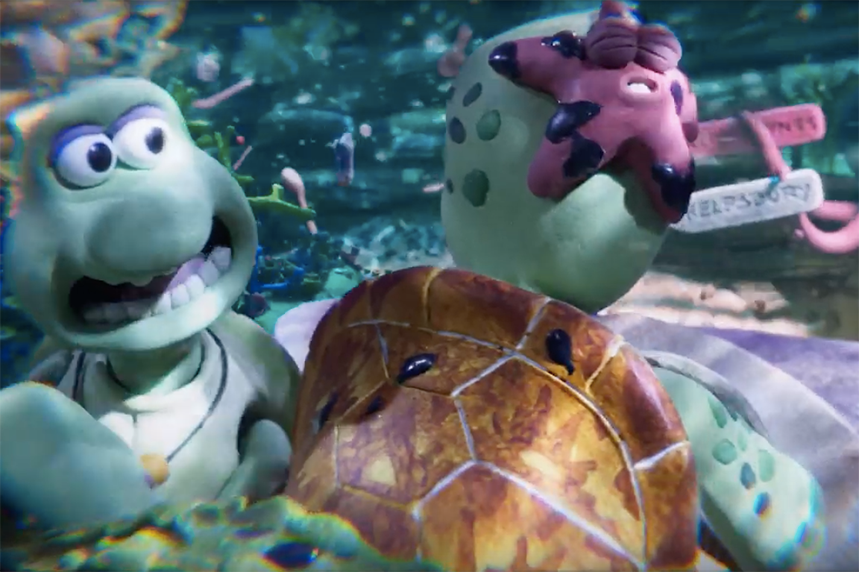 Watch Greenpeace Olivia Colman And Animated Turtles Illustrate