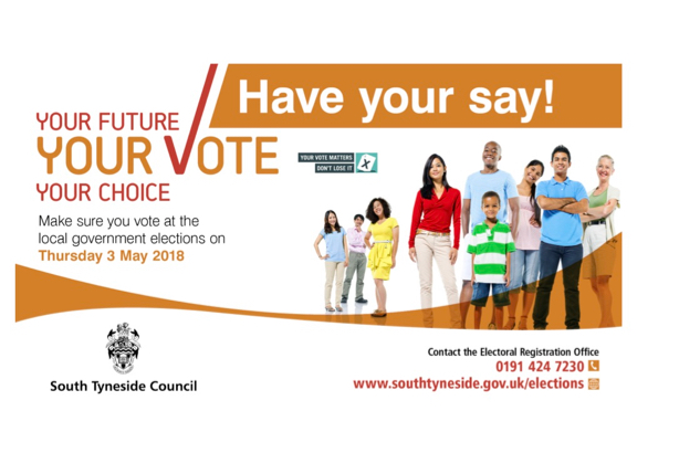 South Tyneside Council: Local elections marketing activity reminds the electorate to have their say