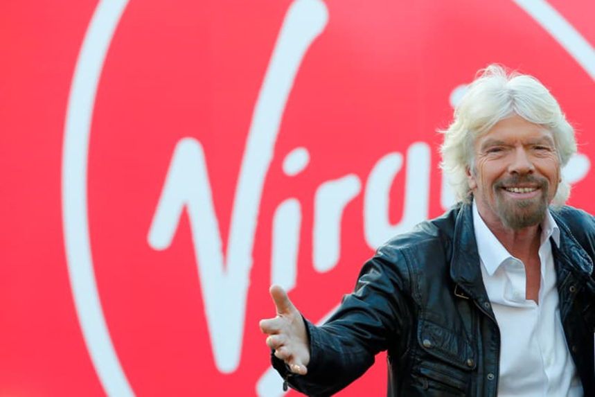 Sir Richard Branson founded the Virgin business 50 years ago