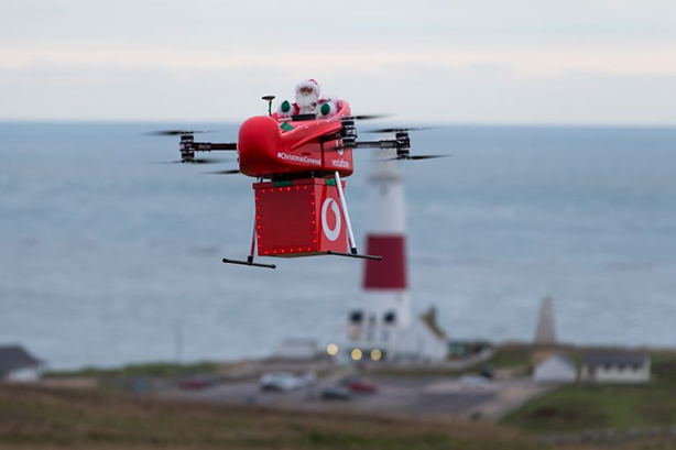 Watch keepers received a special treat from a Santa Claus drone