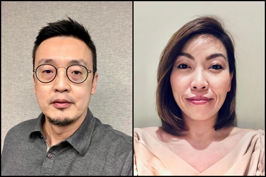 From left: Andy Lee & Michelle Tee
