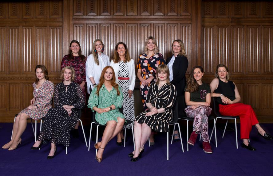 Among the mentees: (Back row, left to right) Elizabeth Jones, Amy Simpson, Melanie Hesketh, Katie Watts, Sarah Shephard. (Front row, left to right): Lauren Welford, Louise Stewart, Clare Daly, Georgina Cotton, Claudia Moselhi, Isobel Camier