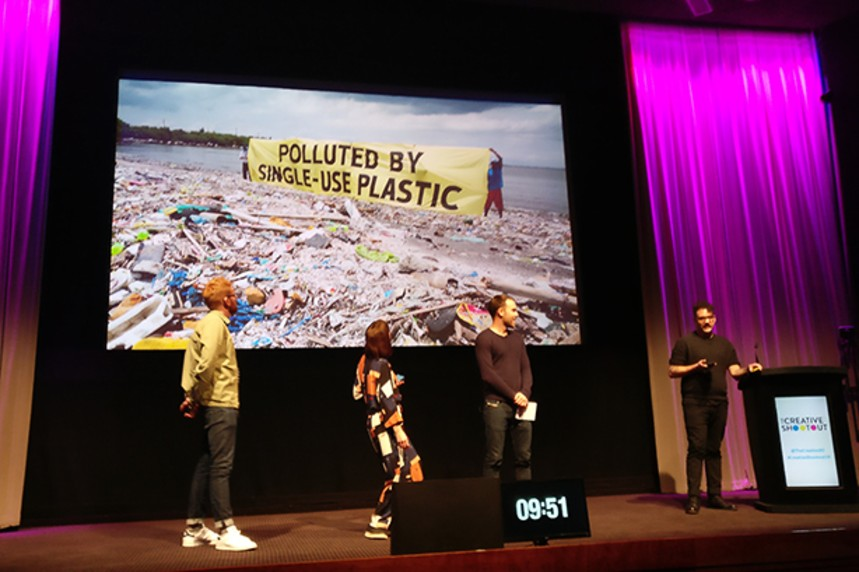 The winning Wire team on stage during their Creative Shootout pitch last year