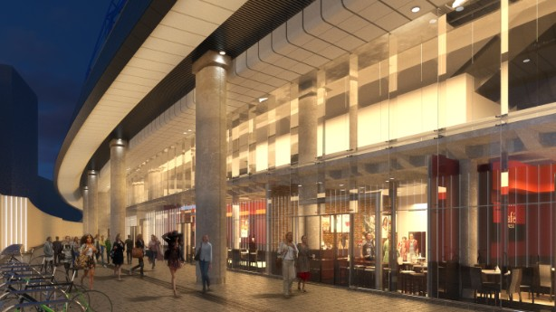 An artists impression of the new development
