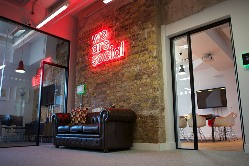 We Are Social: office is located in Finsbury Square