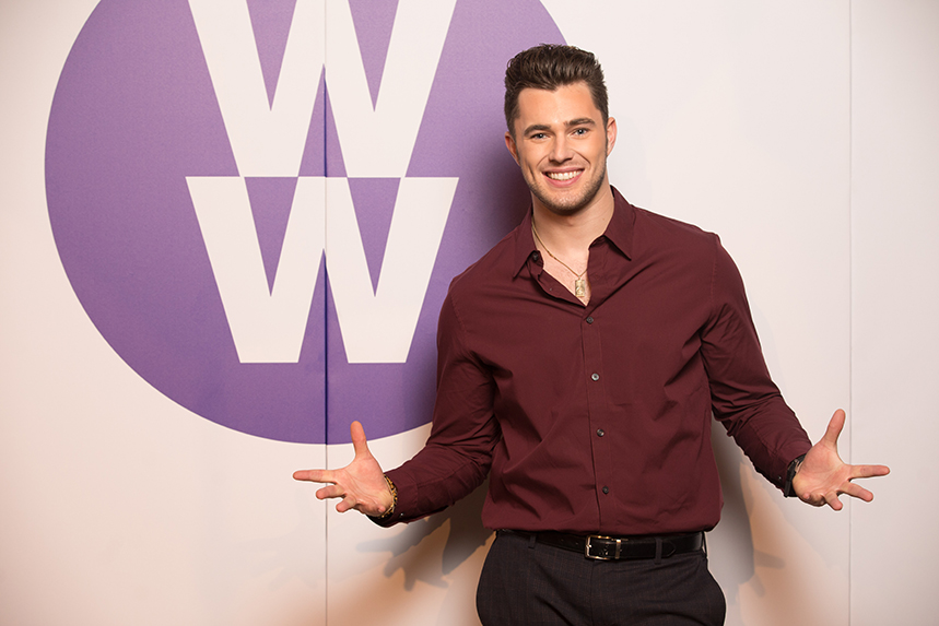Professional dancer Curtis Pritchard is a new Weight Watchers ambassador