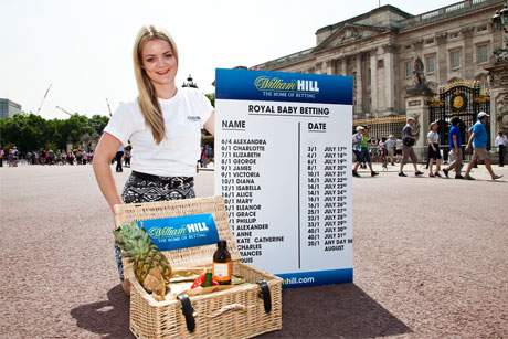 Royal betting: William Hill ran a book on the royal baby