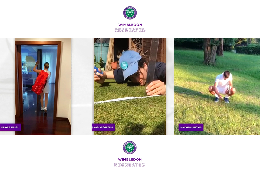 Tennis stars recreate magical Wimbledon moments at home in new campaign.