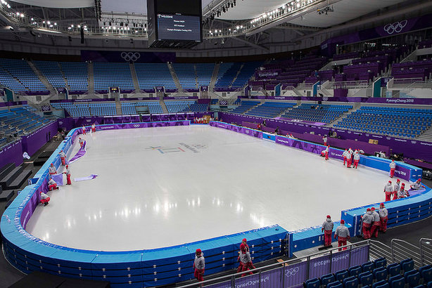 The ice hockey venue at the 2018 Winter Olympics in Pyeongchang (pic credit: IOC)