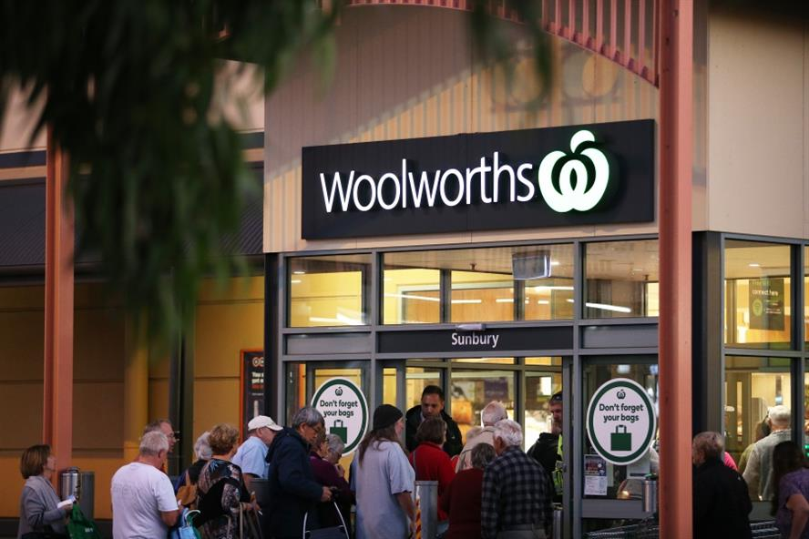 Australian supermarket chain Woolworths took in 20,000 Qantas staff who were placed on unpaid leave