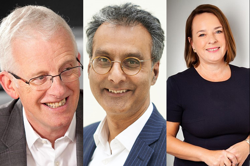 (L-R) Sir Neil McKay, Dr Nav Chana and Linda Prosser have joined the agency in an advisory capacity