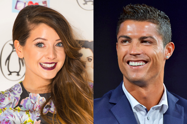 Zoella (l) tops Ronaldo for brands, says study (Credits: Dominic Lipinski/PA Wire / Kento Nara/Geisler-Fotopress/DPA/PA Images)