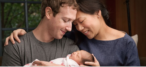 Announcement: Mark Zuckerberg with wife Priscilla Chan and daughter Max