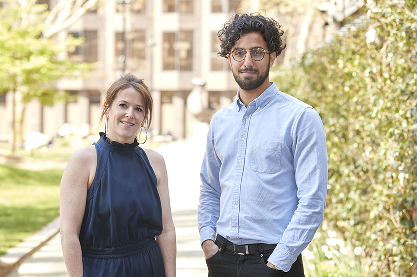 Louise Farmer (L) and Jaber Mohamed (R) bring experience of pharma and government comms to the healthcare practice