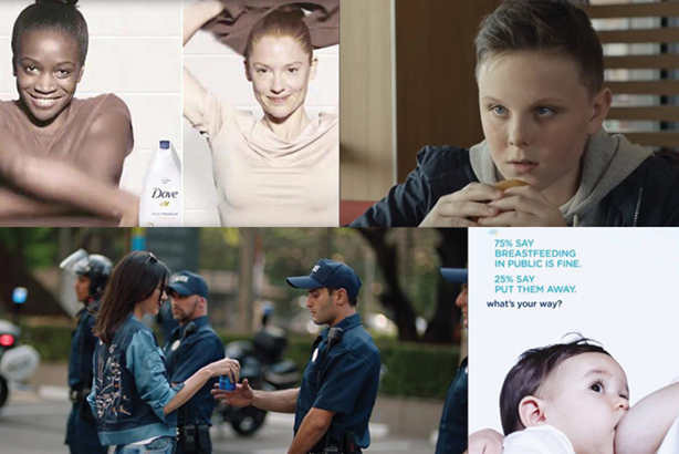 Disastrous ads: Dove (top left, bottom right), McDonald's (top right) and Pepsi (bottom left)