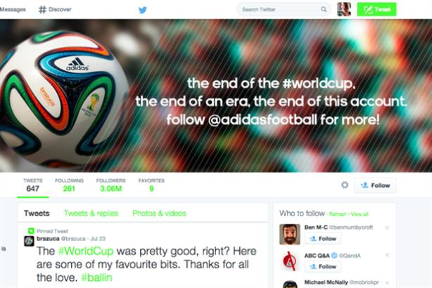Adidas killed the Brazuca account for fear of 'alienating' the community.