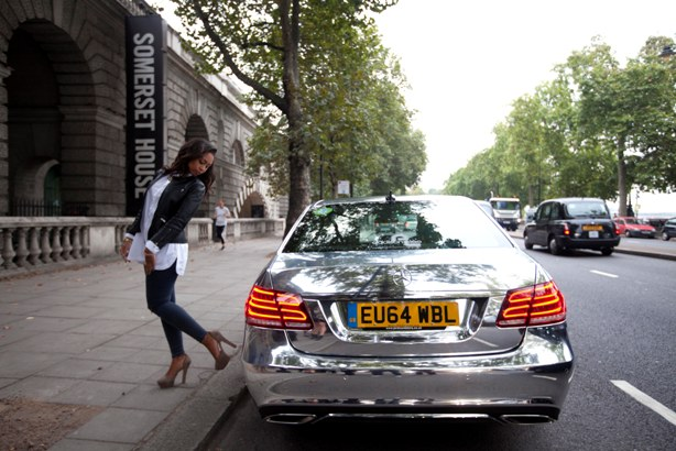 W's campaign for Addison Lee during London Fashion Week in 2014.