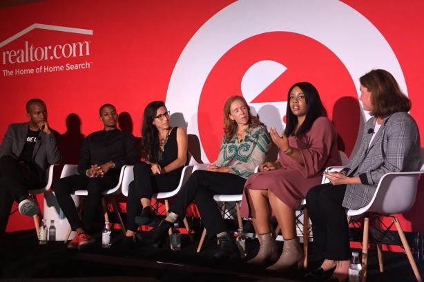 (L-R) Wade Davis, Tim Austin, Faride Schroeder, Christina Lowery, Anuli Akanegbu, and Karen Kahn