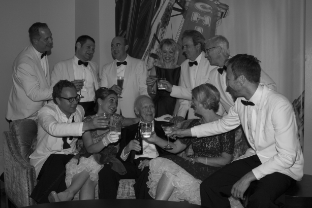 Al Golin (center) and Golin's executive board last July (image via Golin)