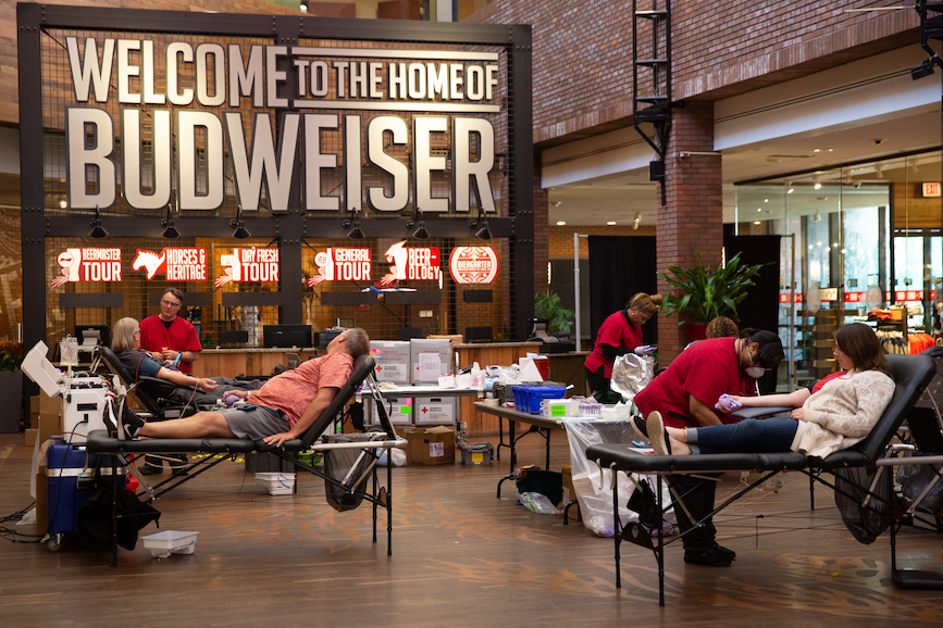 Anheuser-Busch partners with the American Red Cross.
