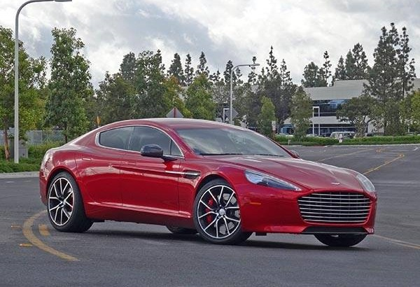 The 2014 Aston Martin Rapide S, which is reviewed on Kelley Blue Book