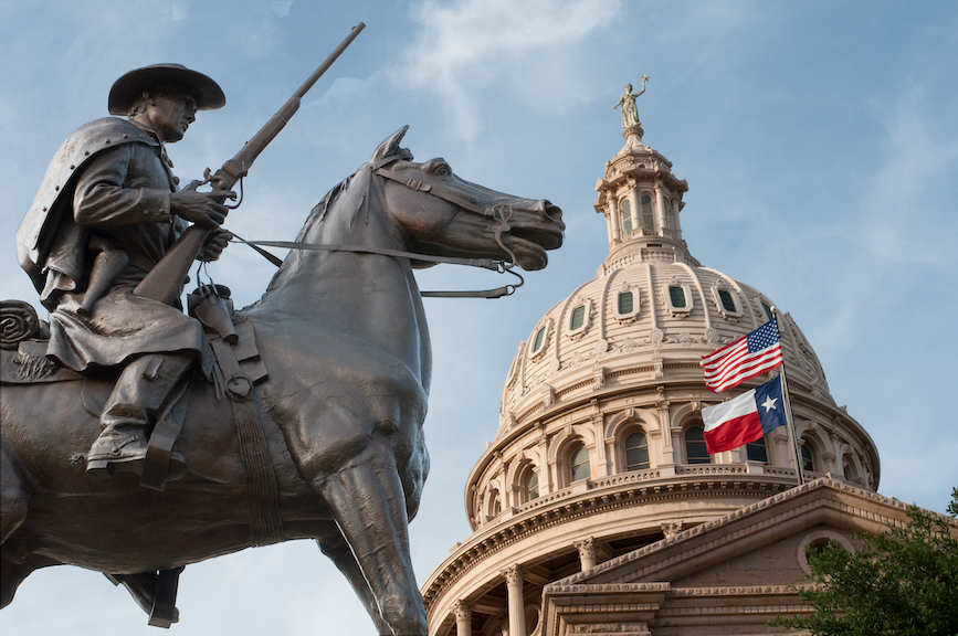 Legislators in Austin, Texas, (above) are considering legislation that would limit voting access. (Photo credit: Getty Images).