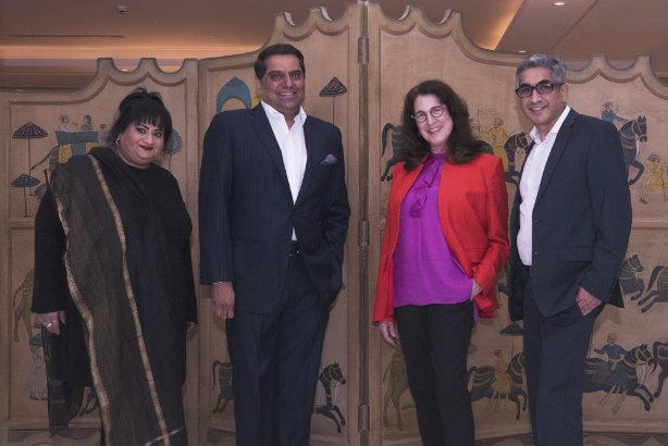 (L-R): Carolyn Camoens, Nikhil Khanna, WE CEO Melissa Waggener Zorkin, Nitin Mantri