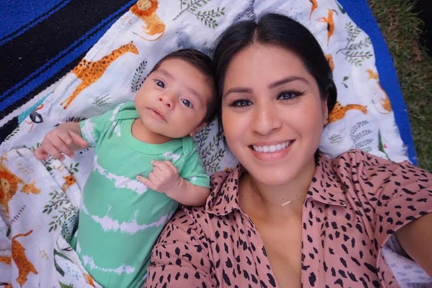 Startr CEO Monica Guzman Escobar had her son just days before lockdown.