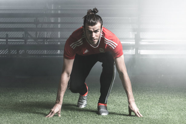 Speedster: Real Madrid and Wales' Gareth Bale will be one of the Adidas-clad footballers duking it out in France