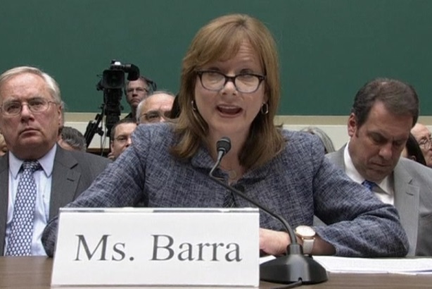 GM CEO Mary Barra at a Congressional hearing about the recalls