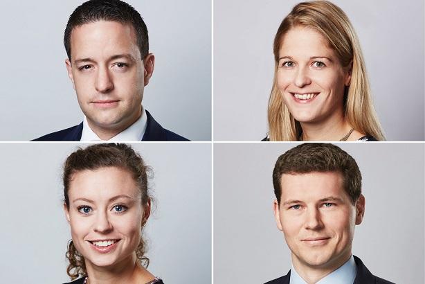 Promoted quartet: clockwise from top left; Gater, Naylor-Leyland, Allan, Hipkiss