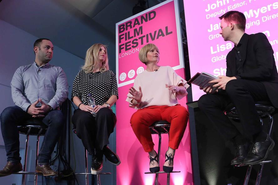 Left to right: panellists Myers, Jedan, Glen and PRWeek's Harrington