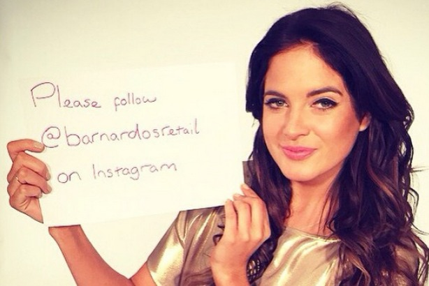 """""""Binky"""" Felstead: promoted Barnardo's on Instagram after being paid a £3,000 fee"""
