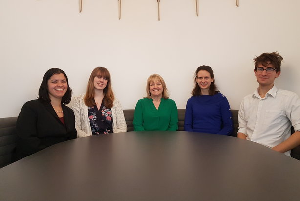 Hires for the BioStrata team (L-R): Mira Nair, Rachael Young, Sheridan Cook, Caroline Chambers and Sam Willstead