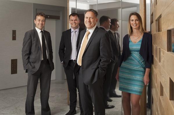 Blackland PR: (l-r) John Mitchell, Nick Gowland, Mark Blackham, Nicky Barton