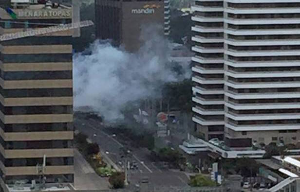 A reported nine explosions rocked Jakarta, with several injuries and fatalities reported