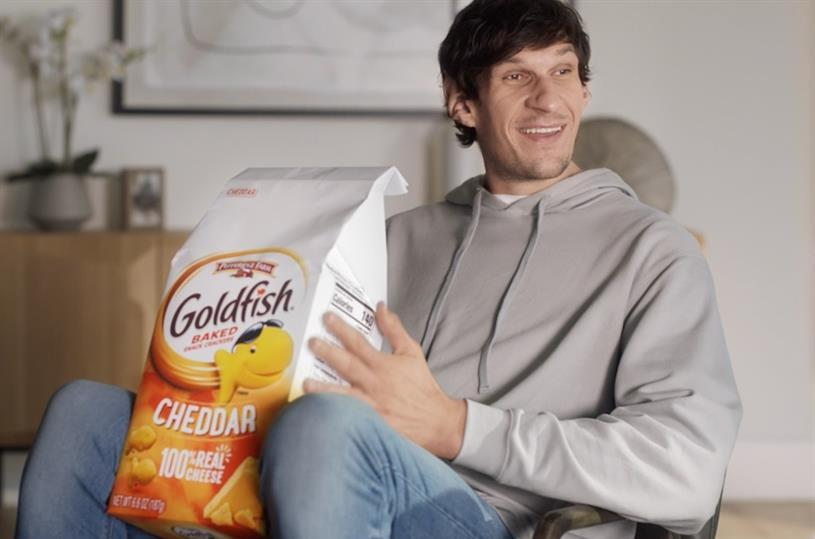 "That's a really big Goldfish bag, even for 7'4"" Boban Marjanovic."