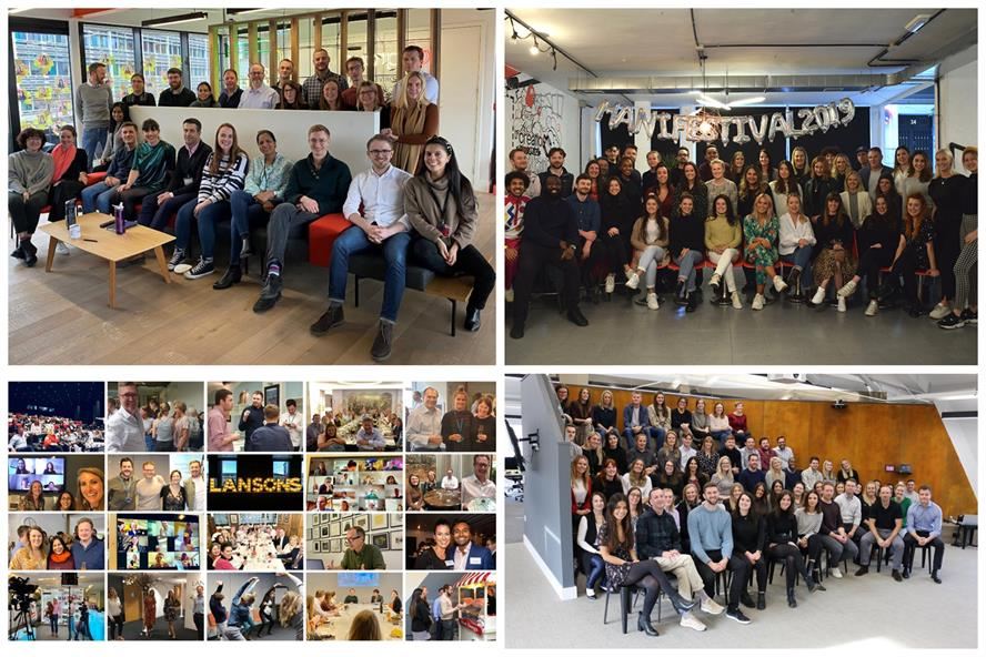 Best Places to Work winners (clockwise from top left): CCgroup, Manifest, Citypress, Lansons
