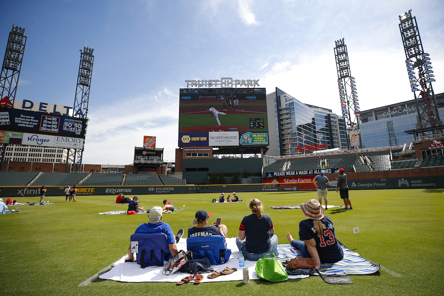 Major League Baseball moved its midsummer All-Star Game out of the Atlanta Braves' Truist Park due to Georgia's new voting law. (Photo credit: Getty Images)